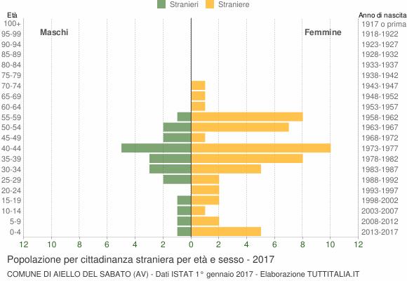Grafico cittadini stranieri - Aiello del Sabato 2017
