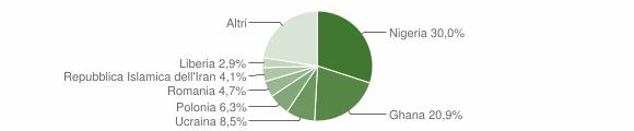 Grafico cittadinanza stranieri - Castel Volturno 2018