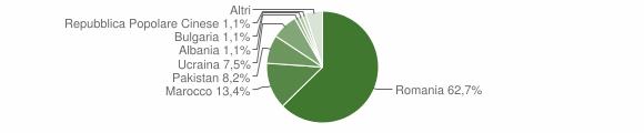 Grafico cittadinanza stranieri - Bracigliano 2010