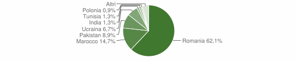 Grafico cittadinanza stranieri - Bracigliano 2012