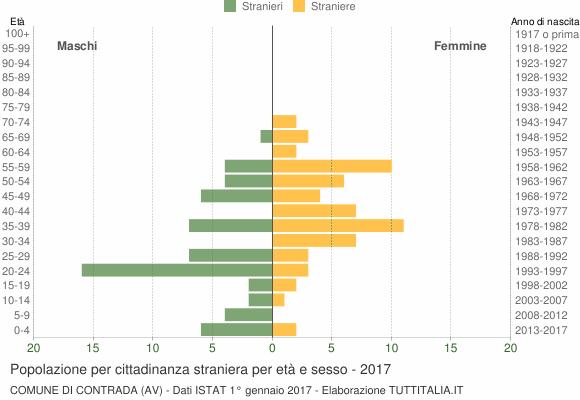 Grafico cittadini stranieri - Contrada 2017