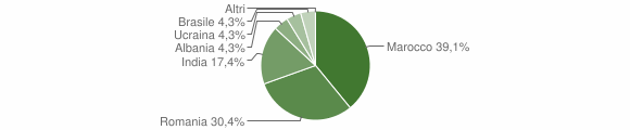 Grafico cittadinanza stranieri - Villanova del Battista 2018