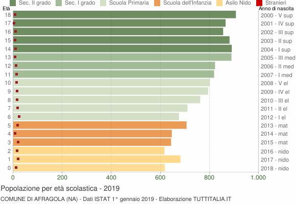 Grafico Popolazione in età scolastica - Afragola 2019