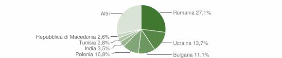 Grafico cittadinanza stranieri - Sessa Aurunca 2010