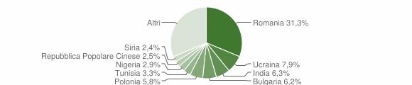 Grafico cittadinanza stranieri - Sessa Aurunca 2019