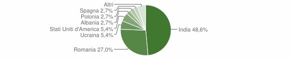 Grafico cittadinanza stranieri - Castel di Sasso 2019