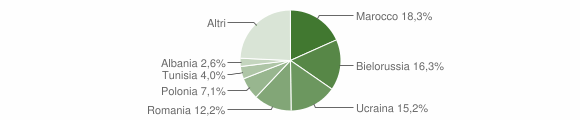 Grafico cittadinanza stranieri - Pomigliano d'Arco 2019