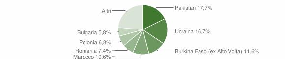 Grafico cittadinanza stranieri - Frattaminore 2019