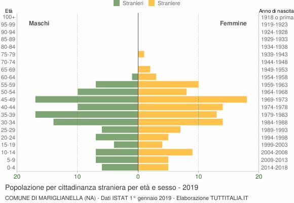 Grafico cittadini stranieri - Mariglianella 2019