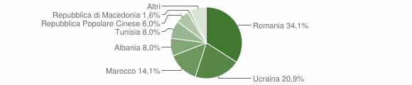 Grafico cittadinanza stranieri - Casapesenna 2011