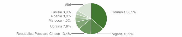 Grafico cittadinanza stranieri - Casapesenna 2018