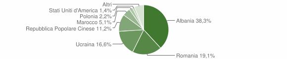 Grafico cittadinanza stranieri - Serino 2010