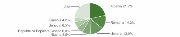 Grafico cittadinanza stranieri - Serino 2018