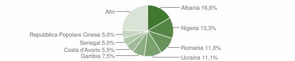 Grafico cittadinanza stranieri - Serino 2019