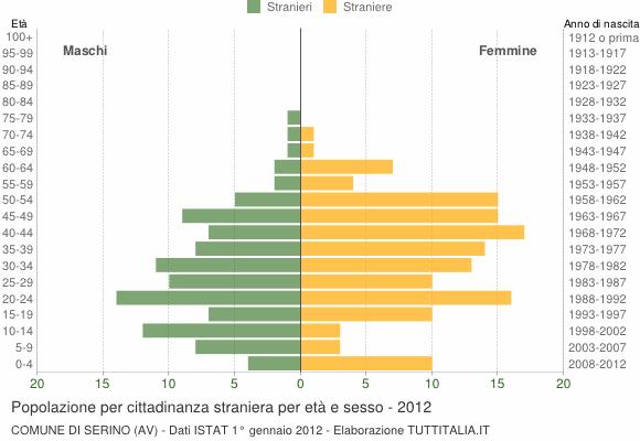 Grafico cittadini stranieri - Serino 2012