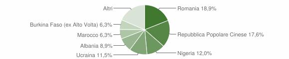 Grafico cittadinanza stranieri - Villa di Briano 2016