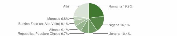 Grafico cittadinanza stranieri - Villa di Briano 2019