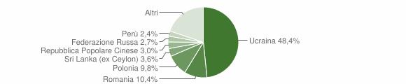 Grafico cittadinanza stranieri - Avellino 2008