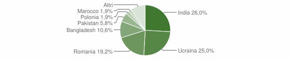 Grafico cittadinanza stranieri - Domicella 2017