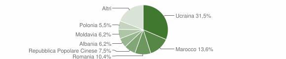 Grafico cittadinanza stranieri - Santa Maria a Vico 2013