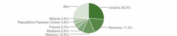 Grafico cittadinanza stranieri - Santa Maria a Vico 2017
