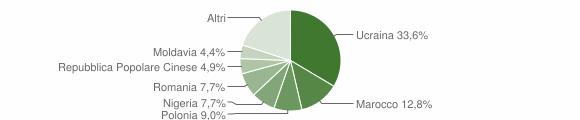 Grafico cittadinanza stranieri - Teverola 2013