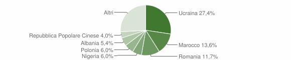 Grafico cittadinanza stranieri - Teverola 2016