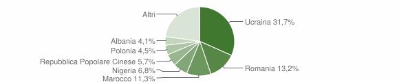 Grafico cittadinanza stranieri - Teverola 2019