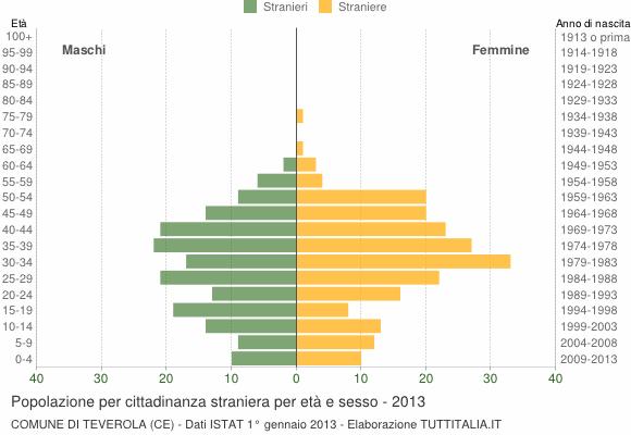 Grafico cittadini stranieri - Teverola 2013