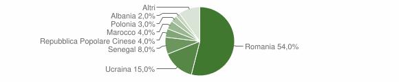 Grafico cittadinanza stranieri - Calvanico 2010