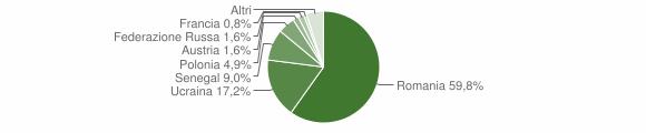 Grafico cittadinanza stranieri - Calvanico 2016
