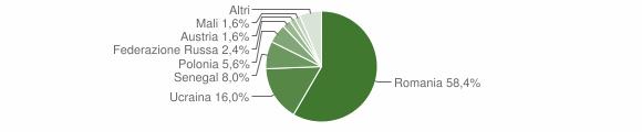 Grafico cittadinanza stranieri - Calvanico 2017
