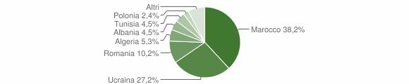 Grafico cittadinanza stranieri - Cesa 2011