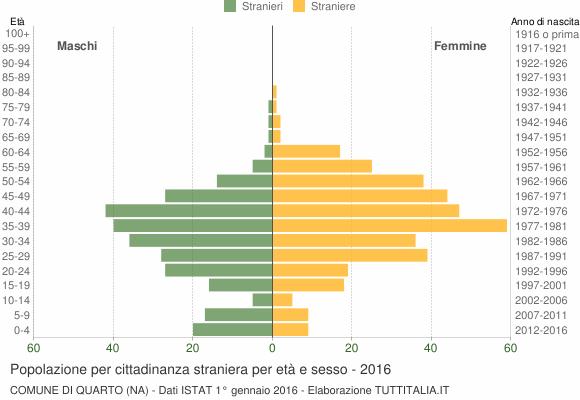 Grafico cittadini stranieri - Quarto 2016