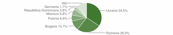 Grafico cittadinanza stranieri - Grottaminarda 2013