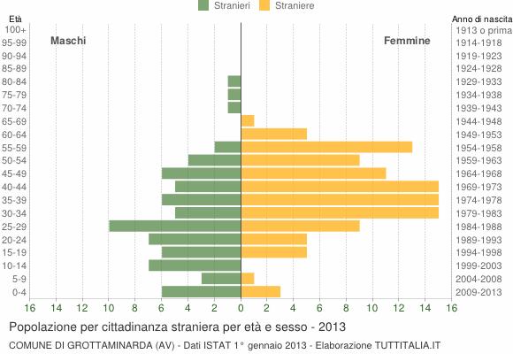 Grafico cittadini stranieri - Grottaminarda 2013