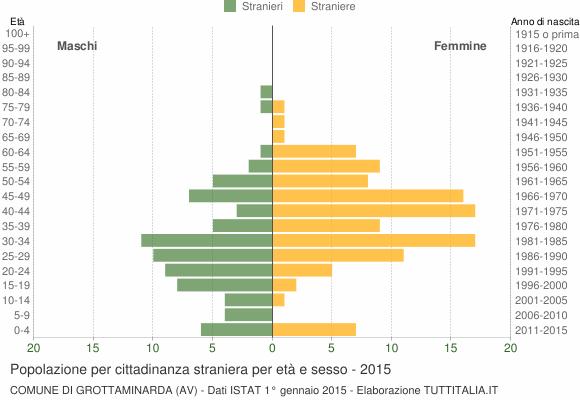 Grafico cittadini stranieri - Grottaminarda 2015