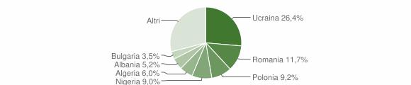 Grafico cittadinanza stranieri - Villaricca 2009