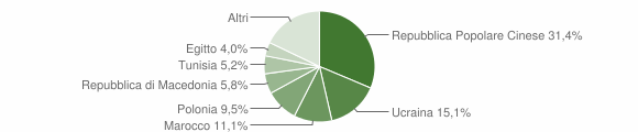 Grafico cittadinanza stranieri - Monteforte Irpino 2007