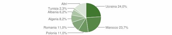 Grafico cittadinanza stranieri - Casapulla 2018