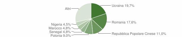Grafico cittadinanza stranieri - Atripalda 2017