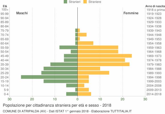 Grafico cittadini stranieri - Atripalda 2018