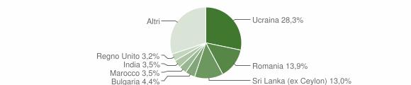 Grafico cittadinanza stranieri - Vico Equense 2019