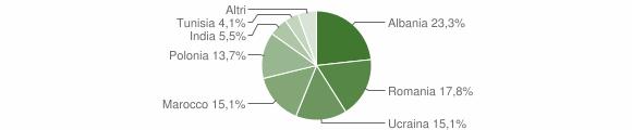 Grafico cittadinanza stranieri - San Tammaro 2009