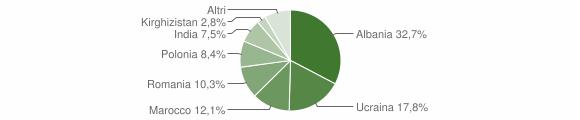 Grafico cittadinanza stranieri - San Tammaro 2011