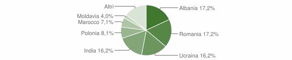 Grafico cittadinanza stranieri - San Tammaro 2018