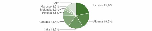 Grafico cittadinanza stranieri - San Tammaro 2019