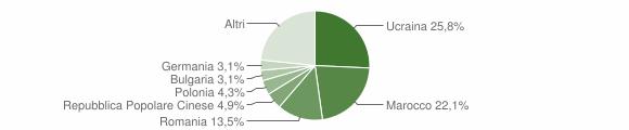Grafico cittadinanza stranieri - Castello di Cisterna 2019