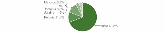 Grafico cittadinanza stranieri - Ciorlano 2019