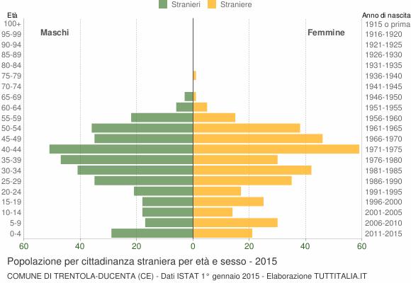 Grafico cittadini stranieri - Trentola Ducenta 2015